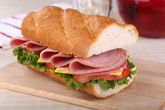 Lunch Meat Sandwich Stock Images