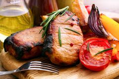 Free Lunch Meat With Vegetables, Horizontally Stock Photos - 55301033