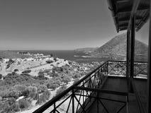 Lunch med en sikt ovanför crete royaltyfria foton