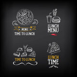 Lunch menu logo and badge design. Vector with graphic. Royalty Free Stock Images