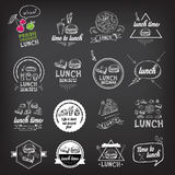 Lunch menu, restaurant design. Royalty Free Stock Image
