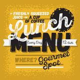 Lunch Menu Vintage Influenced Typographic Poster Design For Restaurants. Vector Graphic Stock Photo