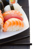 Lunch met sushischotel Royalty-vrije Stock Foto