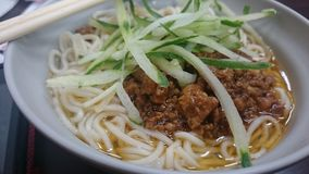 Taiwanese Fresh Noodle for Lunch Royalty Free Stock Photos