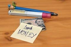 Lunch money Stock Image