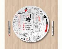 Lunch- och affärsstrategi Arkivbilder