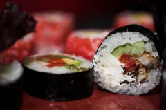 Free Lunch Of Assorted Sushi Royalty Free Stock Photography - 120689307