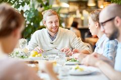 Free Lunch Of Friends Stock Images - 113936414