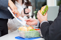 Lunch at the office Royalty Free Stock Photos