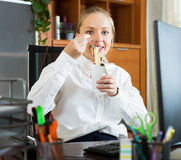 Lunch in office Royalty Free Stock Photography