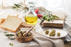 Lunch with olives Stock Image