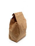Lunch paper bag brown Stock Image