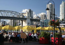 Lunch on the patio at Granville Island Stock Photography