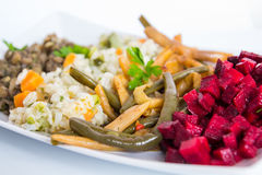 Lunch plate Royalty Free Stock Photos