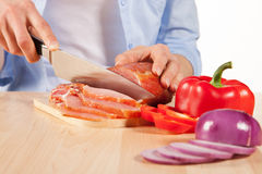 Lunch preparation Royalty Free Stock Photography