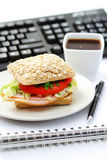 lunch quick royaltyfri bild
