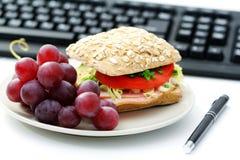 lunch quick arkivfoton
