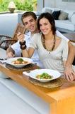 Lunch samen Royalty-vrije Stock Afbeeldingen