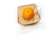 Lunch - sandwich and orange Royalty Free Stock Photos