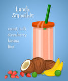 Lunch Smoothie Flat Design Vector Concept Stock Photography