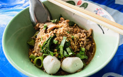 Lunch. It is a spicy noodle Thailand Royalty Free Stock Images