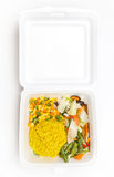 Lunch styrofoam box Stock Photo