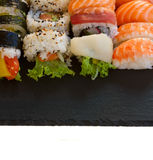 Lunch with  sushi dish Royalty Free Stock Image