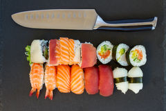 Lunch with  sushi dish Stock Photos