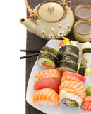 Lunch with  sushi dish Stock Image