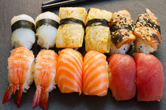 Lunch with  sushi dish Royalty Free Stock Photos