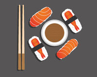 Lunch with sushi Stock Photography
