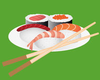 Lunch with sushi Stock Image