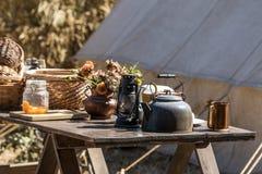 Lunch Table Civil War Era Stock Photo