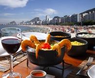 Lunch table on Rio de Janeiro stock photo