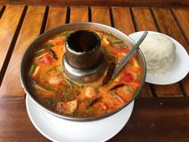 Tom Yum soup in Chiangmai Thailand stock image