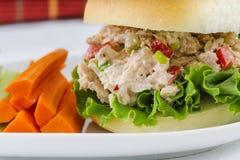 Lunch Tid Tuna Salad Sandwich royaltyfria foton