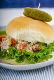 Lunch Tid Tuna Salad Sandwich fotografering för bildbyråer
