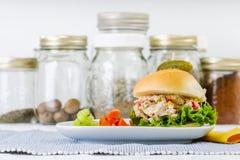 Lunch Tid Tuna Salad Sandwich arkivfoto