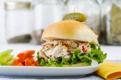 Lunch Tid Tuna Salad Sandwich royaltyfri fotografi