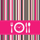Lunch time. Invitation card or restaurant menu cover Stock Photos
