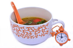 Lunch time with chinese soup Stock Photo