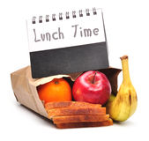 Lunch time - clipping path stock photography
