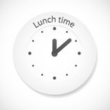 Lunch time clock Royalty Free Stock Photo