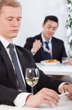 Lunch time in a company Royalty Free Stock Images