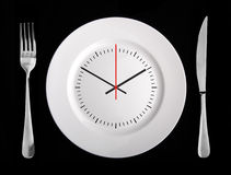 Lunch time concept Royalty Free Stock Photography