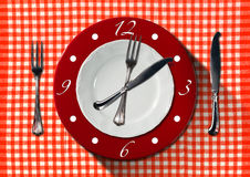 Lunch Time Concept Stock Photography