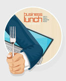 Lunch time concept design Stock Photos
