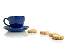 Lunch time - cookies and cup. Of tea Royalty Free Stock Image