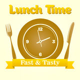 Lunch time illustration. Stock Photography