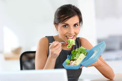 Lunch time in the office Stock Image